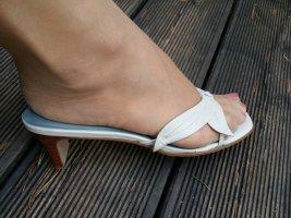 Etienne Aigner Heel Pantolettes white-azure