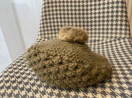 Czapka typu beanie camel Tkanina z mieszanych włókien