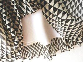 Marina Rinaldi Jedwabna spódnica w kolorze białej wełny-czarny Jedwab