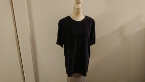 Apart Long Shirt dark blue silk