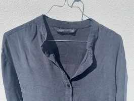 Seidenbluse / Hemd ohne Kragen