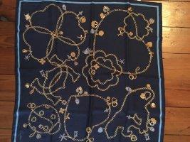 Cartier Panno di seta blu scuro-oro