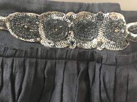 DAY Birger et Mikkelsen Silk Skirt dark blue-silver-colored