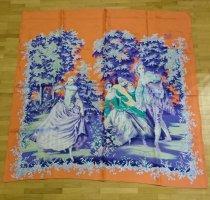 Brigitte von Boch Bufanda de seda multicolor