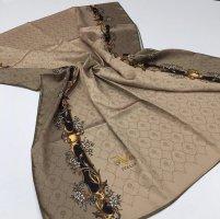 Sciarpa di seta marrone chiaro-beige