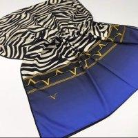 19V69 ITALIA Sciarpa di seta nero-blu neon