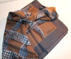 Chopard Pañuelo de seda color bronce-gris oscuro Seda