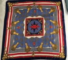 Seidentuch, ca. 84x85cm, rot/weiß/blau/gold