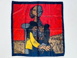Seidentuch mit Picasso Motiv Carré 90 x 90 cm