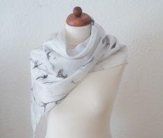Handarbeit Foulard en soie blanc-noir soie