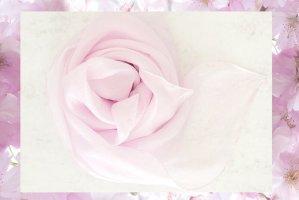 Handarbeit Zijden doek rosé-lichtroze