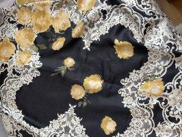 vakko Foulard en soie noir-doré