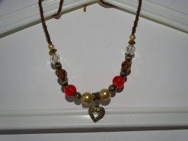 Collier de perles multicolore métal