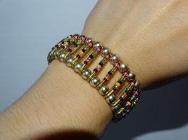 Bangle multicolored metal