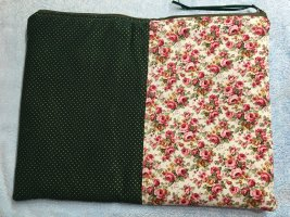 Bid Handmade Canvas Bag magenta-green