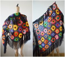 Knitted Scarf black-yellow