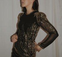 Select femme Paillettenkleid schwarz Silber