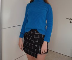 Selected Femme Jersey de cuello alto petróleo-azul