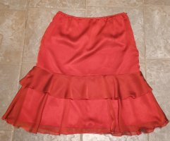 Betty Barclay Asymmetry Skirt dark red-neon red polyester