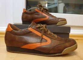 Semler Schnürschuh Halbschuh Sneaker (Größe 6) Leder braun orange