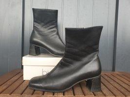 Semler Wedge Booties black leather