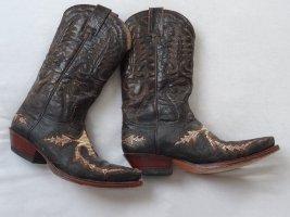 Sendra Western Laarzen zwart bruin-licht beige Leer