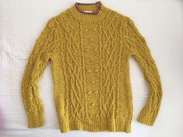 Senfgelb Strick Pullover
