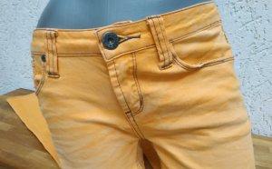 Senfgelbe Jeans, On green Elephant, Gr. 38