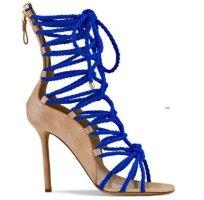 Sergio Rossi Opanca lace up boho Bohemian ibiza sailor gladiator high heels