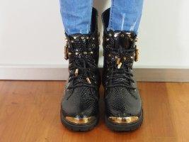 Sergio Todzi Schwarz Stiefel Damen Women Black Boots aus France, Gr. 39 Neu