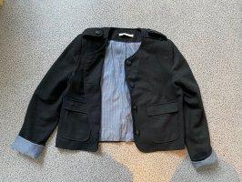 Sessun Blazer de lana negro-azul celeste Lana