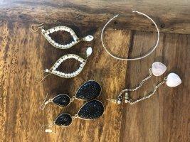 Set aus 2 Paar Ohrringen und einem Armband
