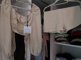 Jeans Industry Podwójny zestaw z dżerseju kremowy