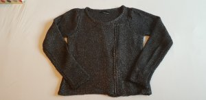 SET - Jacke aus gestricktem Metallic-Garn, Chanelstil, Gr. 36