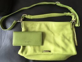 Cheradino Pouch Bag meadow green leather