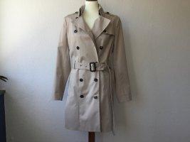 SET Mantel Kurzmantel Gr. 40 beige Trenchcoat Baumwolle NEU Damen