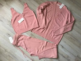 by clara Paris Knitted Twin Set pink-dusky pink viscose