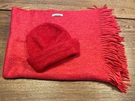 Pieces Bufanda de flecos rojo