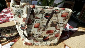 Set Tasche Handtasche Kulturtasche Geldbörse Textil neu