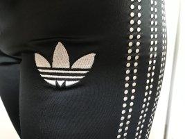 Adidas Originals Leggings negro-color plata Poliéster