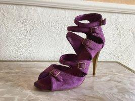 Alisha Talons hauts bleu violet cuir