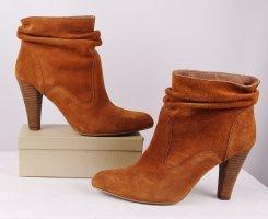 Sexy High Heels Stiefeletten Slouch Stiefel edc by esprit Größe 40 Cognac Rost Orange Hellbraun Spitz Ankle Boots