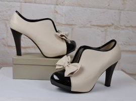 Manxixi Chaussure à talons carrés multicolore tissu mixte