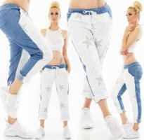 Sexy JogPants/Baggy - JeansDesign - Stars - OneSize - XS S M L - Blue White  HoT