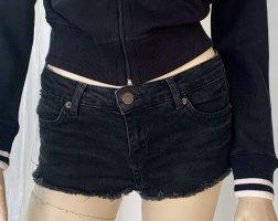 Sexy knappe schwarze Shorts MOTO von TOPSHOP W26