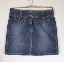 Sexy Mini Rock Jeansrock s.Oliver Größe 38 M Blue Denim Blau Washed Retro 60er A-Linie Minirock Jeans