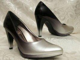 Sexy Plateau Pumps Größe 37 Verlaufende Farben Metallic High Heels