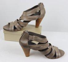 Sexy Sommer Sandaletten Römer Pumps Maripe Größe 38,5 Grau Beige Taupe High Heels