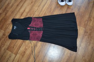 EMP Stretch jurk zwart-rood