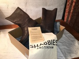 Shabbies amsterdam Buskins taupe-black leather